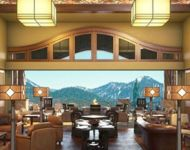 Martis Camp Lodge JELD-WEN Bi-Folding Door with Radius Transome